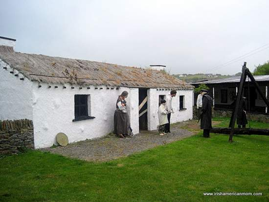 Eviction-Scene-at-the-Doagh-Famine-Museum-Donegal