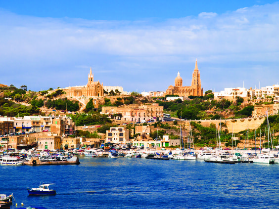 Mgarr harbor on the island of Gozo.